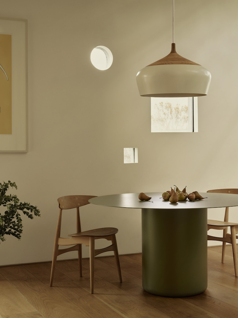 Pale Eucalypt Coco Flip Sequence round dining table