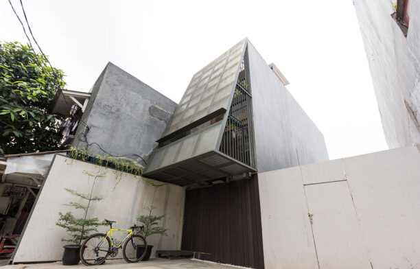 AGo Architecture needed to consider small space living, low-cost and sustainable design strategies while designing this house in Jakarta.