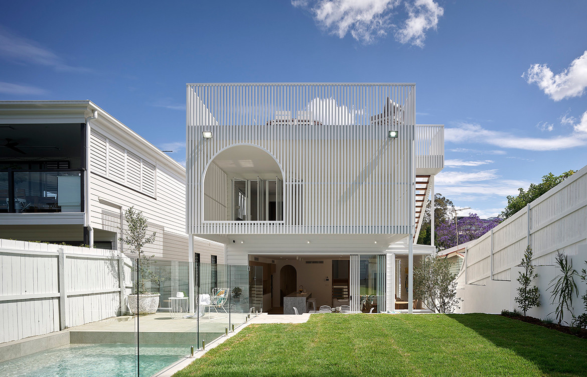 Auchenflower House by DAH Architecture is a playfully modern take on the traditional Queenslander