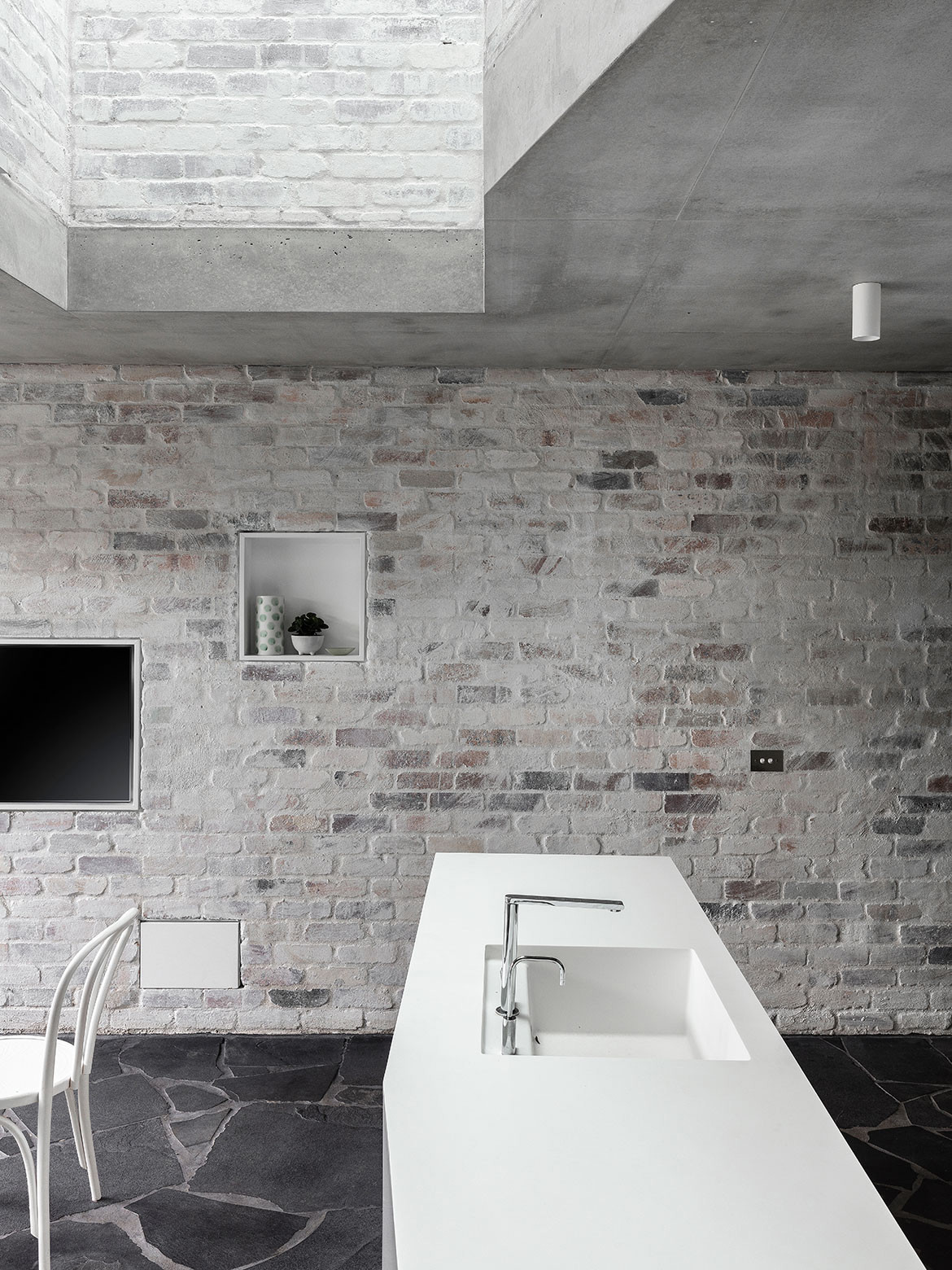 Balmain Rock by Benn+Penna featured in Beautifully Brutalist Interiors Of Houses Across Asia Pacific on habitusliving.com cc Tom Ferguson