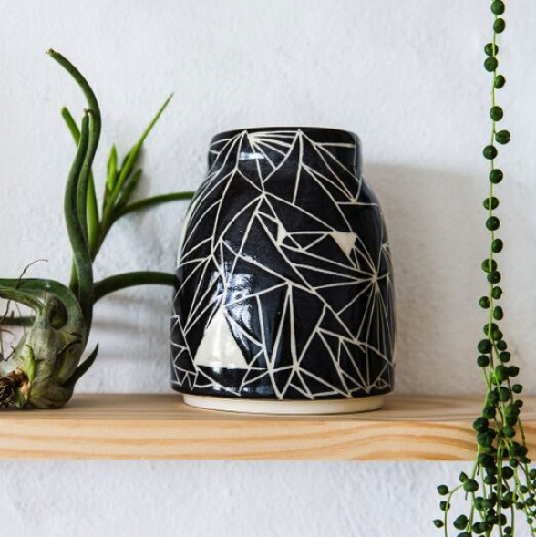 Sgraffito Vase by Charlie & Blair