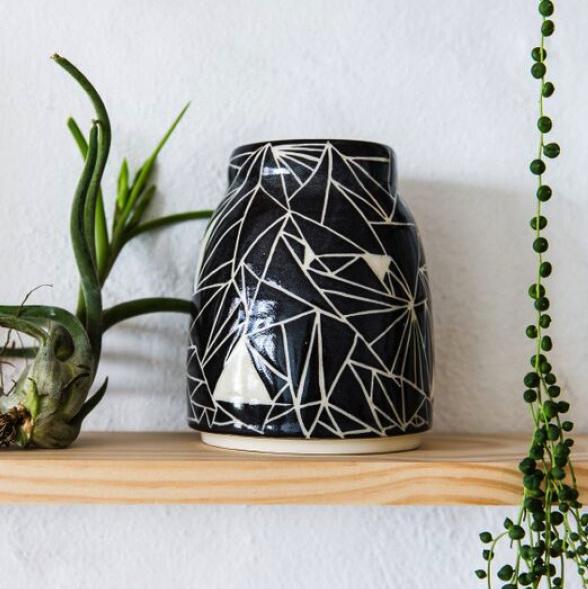 Sgraffito Vase by Charlie & Blair