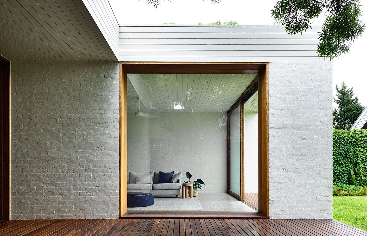 Brighton House by Rob Kennon Architects is a tidy, neutrally-toned extension to an Edwardian terrace.