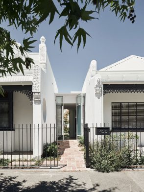 Rae House by Austin Maynard Architects is the renovation and restoration of two seperate Victorian cottages in the heart of Melbourne.