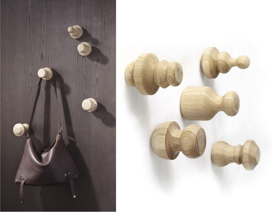 Wood Turned Hooks by Zuster