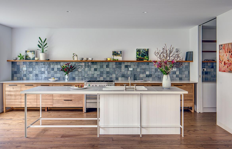 Mosman House by Alexander & Co has a contemporary coastal kitchen
