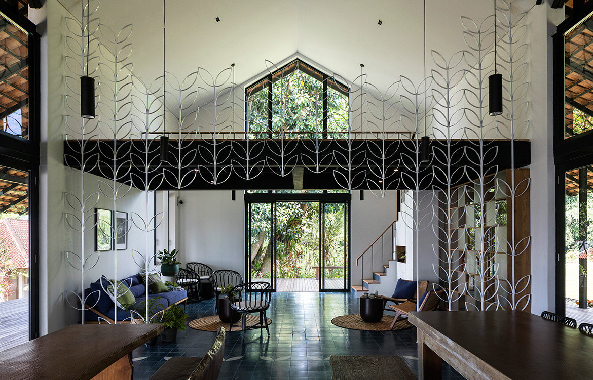 Sukasantai Farmstay is an ecological retreat in Indonesia designed by GOY Architects