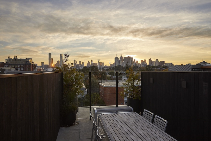 The rooftop deck of The Richmond House.