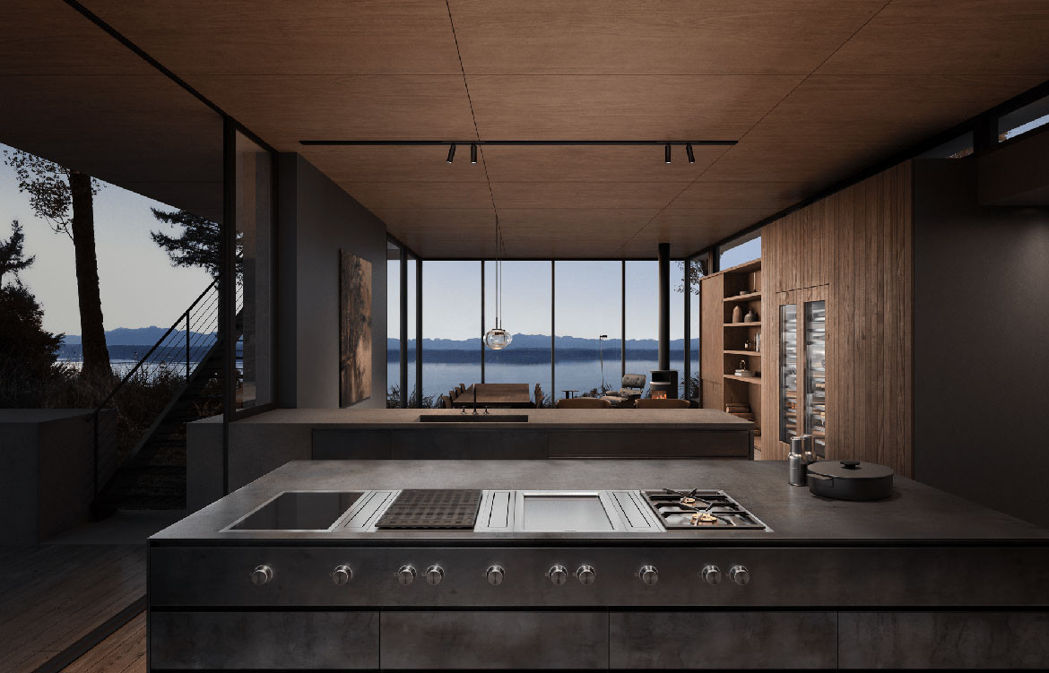 Wine Climate Control Residential Kitchen Timber Lifestyle Image