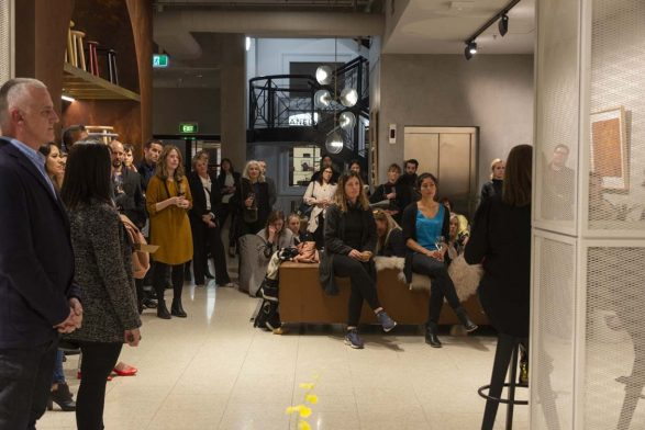 Dianna Snape's 'Lines and Tangles' Exhibition opening night