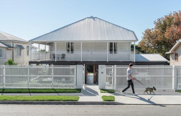 Front facade of Northgate, Brisbane Queenslander by Bones Studio and Room by Room