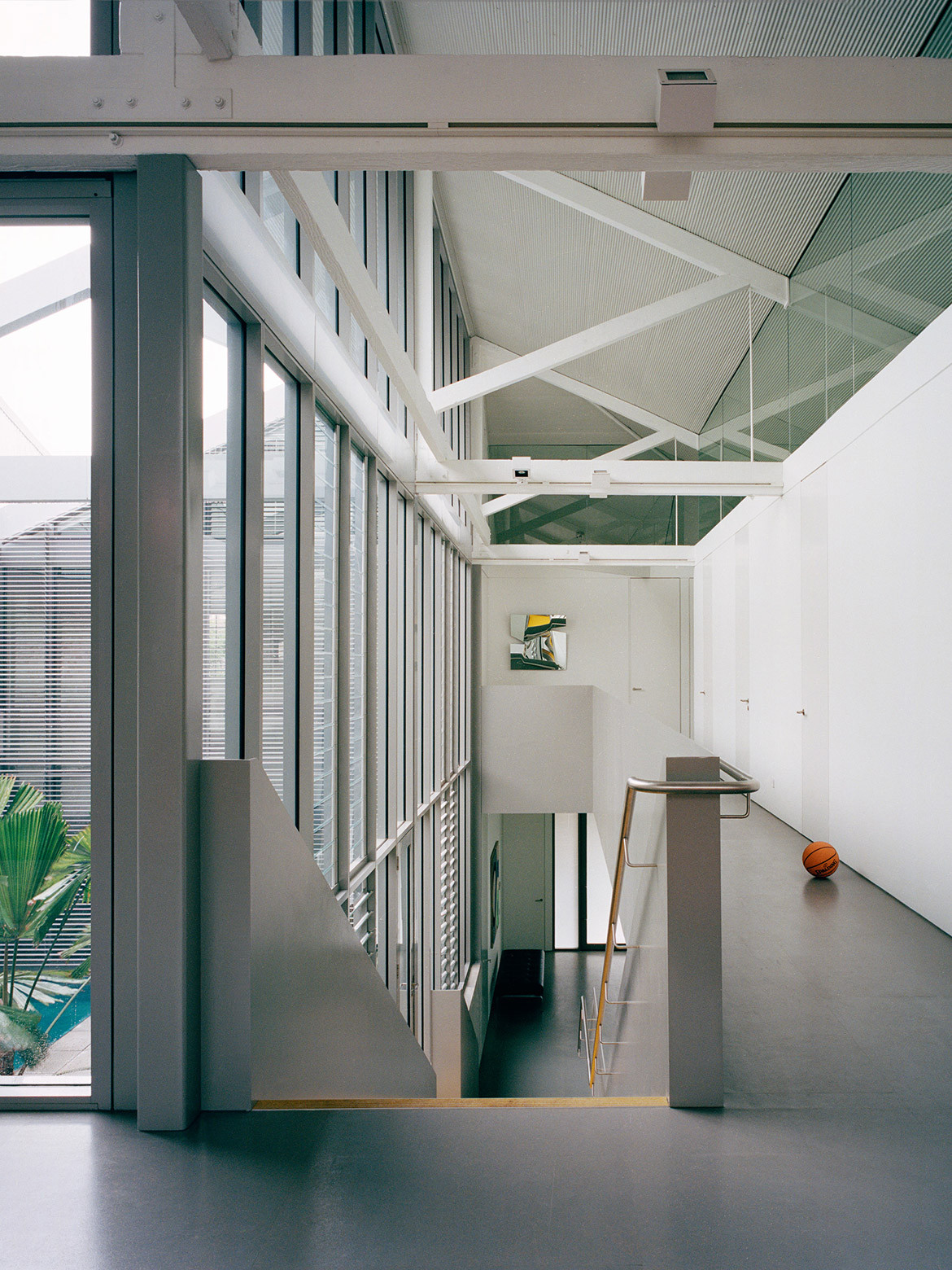 Modern industrial minimalist interior design aesthetic of Redfern Warehouse by Ian Moore Architects