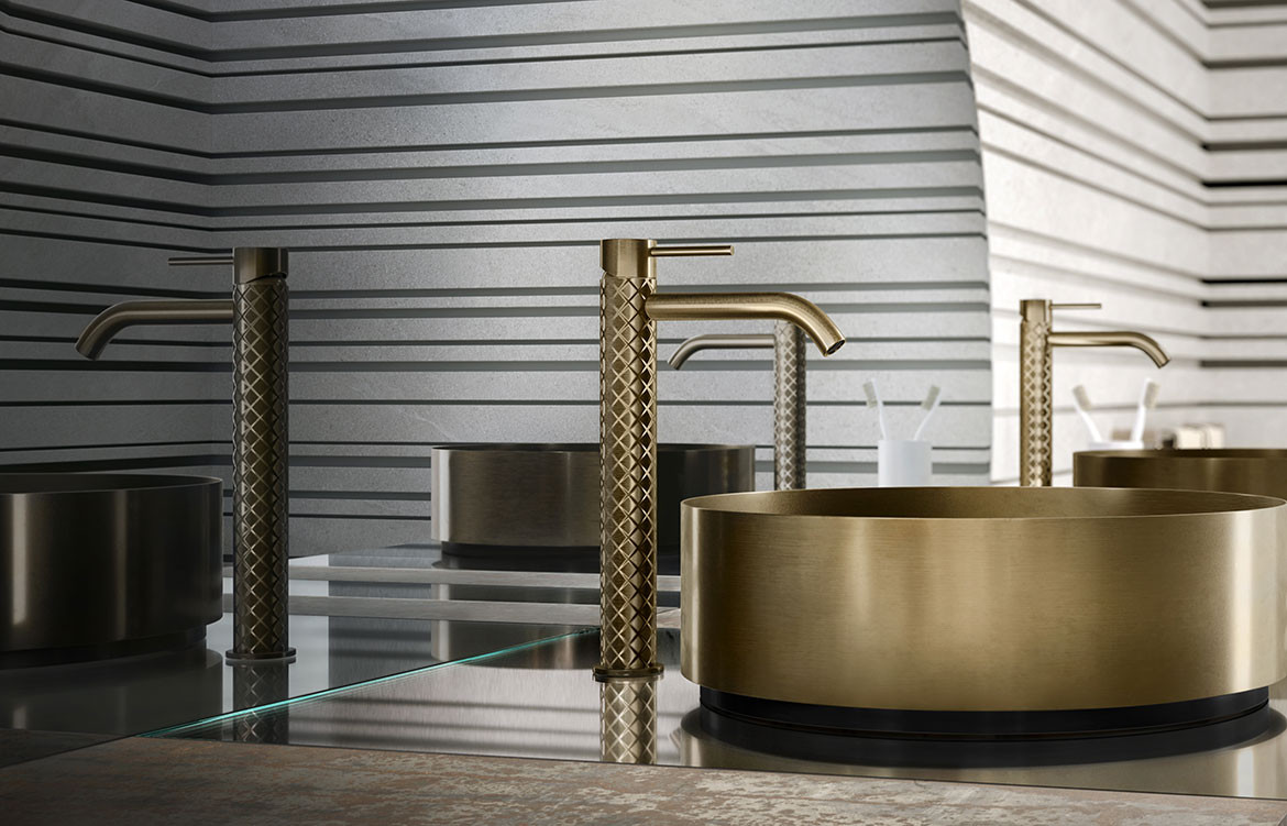 316 bathroom collection, Intreccio tapware by Gessi from Abey Australia