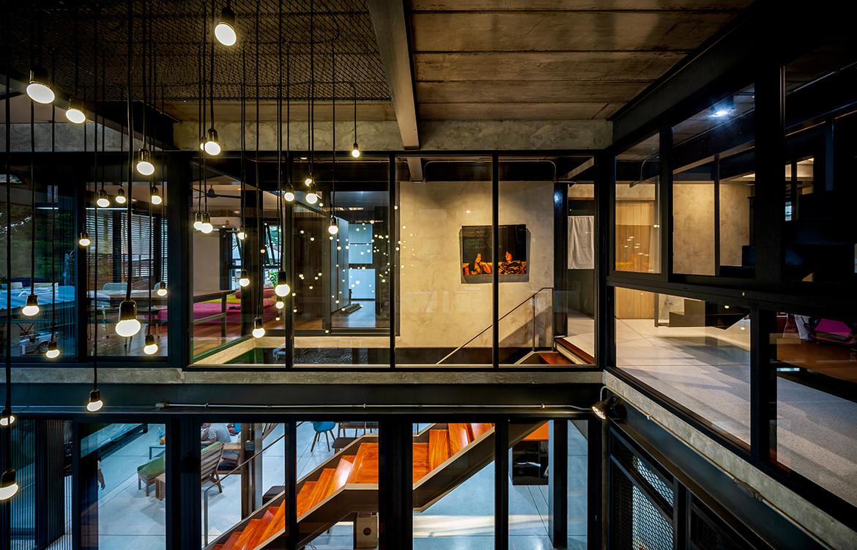 713 House Junsekino Architect and Design CC Spaceshift Studio lighting stairs