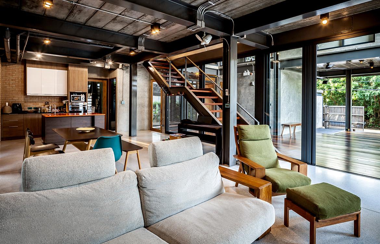 713 House Junsekino Architect and Design CC Spaceshift Studio living room