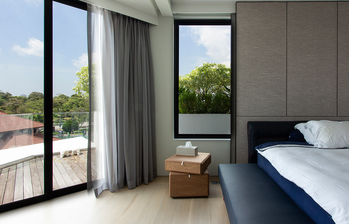 Frankel House Aamer Architects cc Amir Sultan bedroom