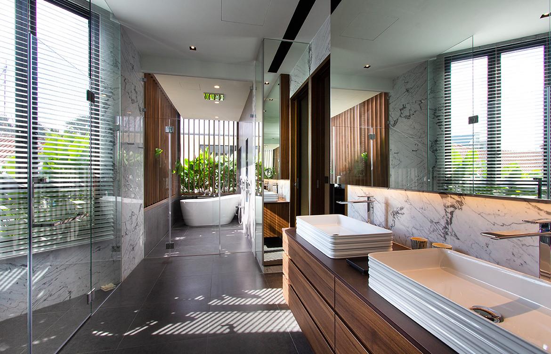 Frankel House Aamer Architects cc Amir Sultan bathroom