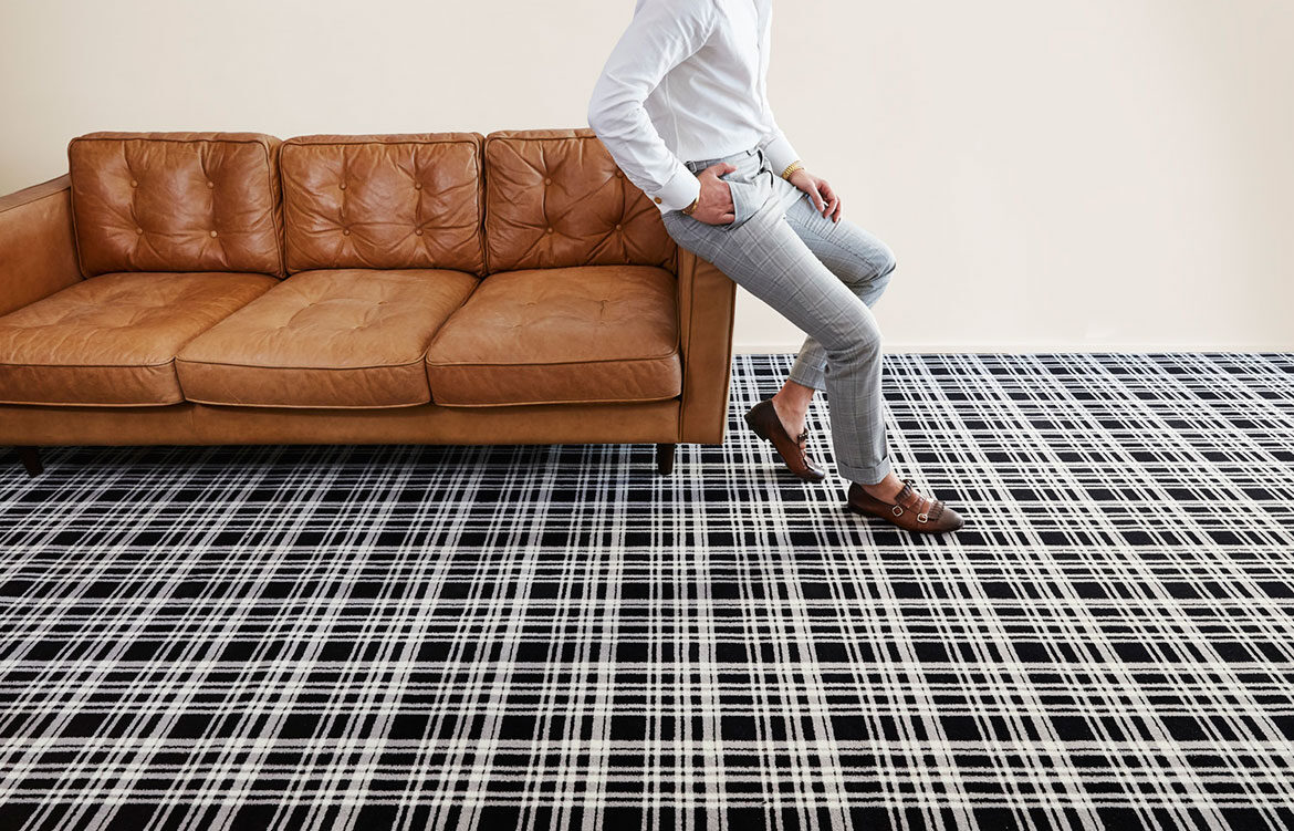 Menswear Inspired Carpet By Axminster