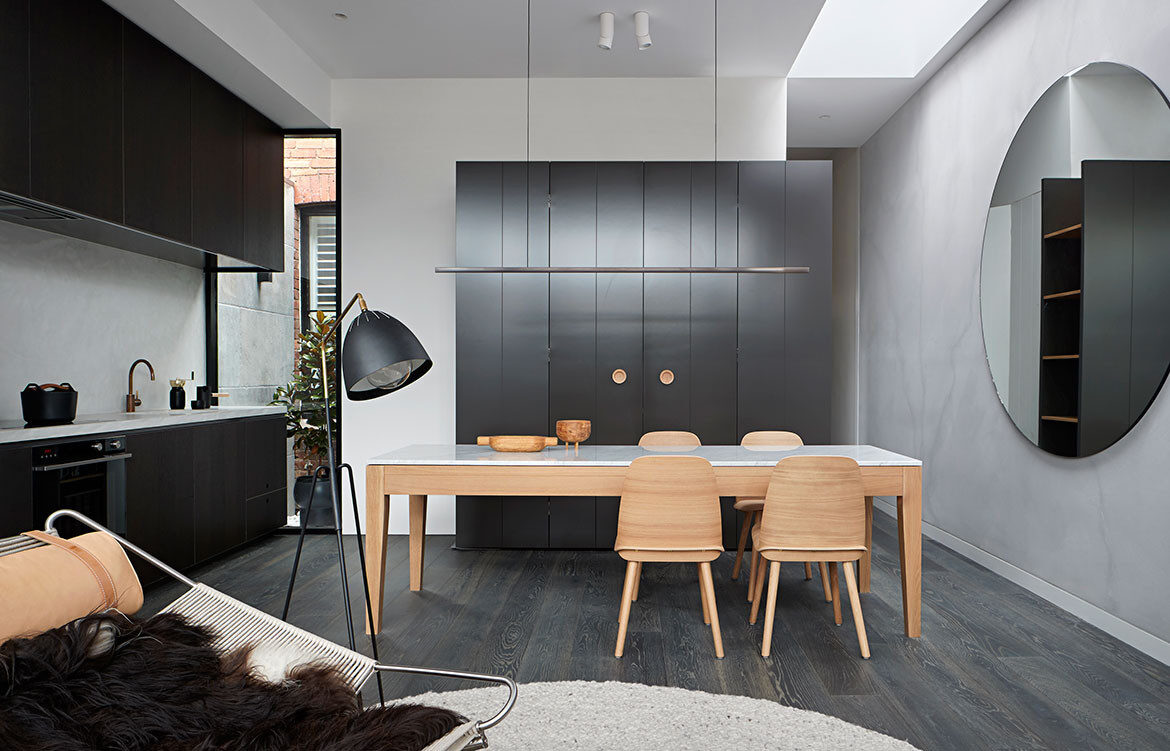 Albert Park House Whiting Architects cc Shannon McGrath kitchen dining