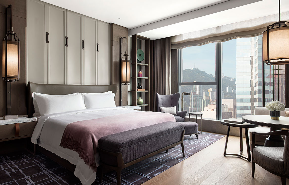 André Fu Design AFSO St Regis Hong Kong bedroom