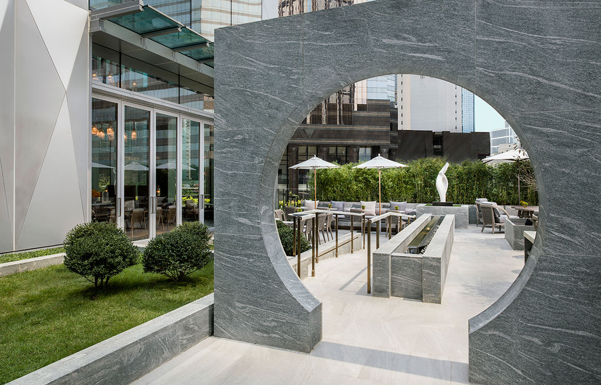 André Fu Design AFSO St Regis Hong Kong outdoor seating