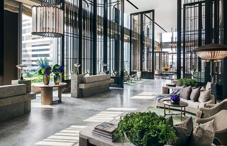 André Fu Design AFSO St Regis Hong Kong reception area