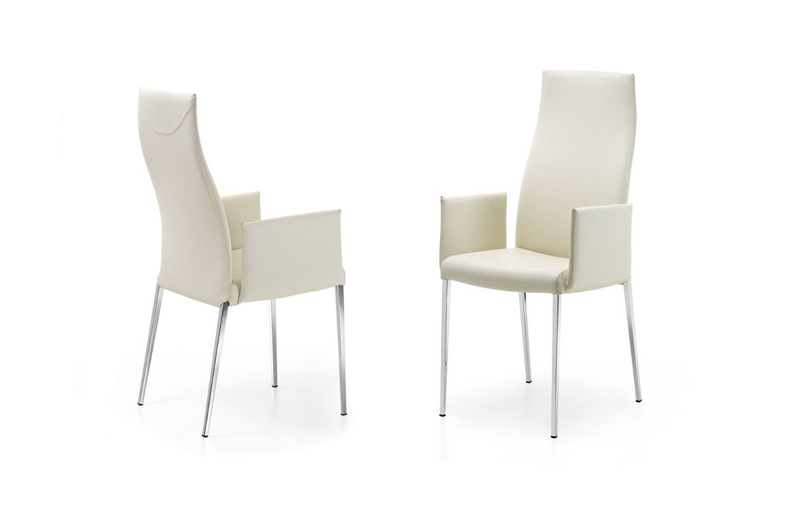 Anna Chair White with Armrests