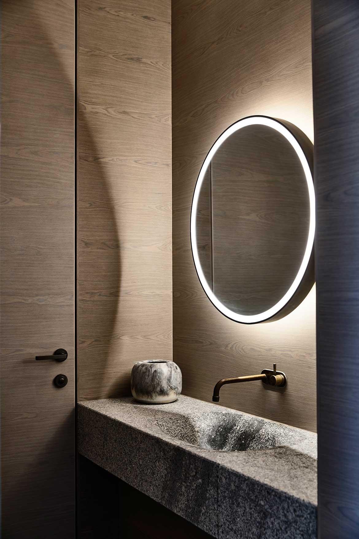 Armadale Residence B.E Architecture cc Derek Swalwell stone vanity