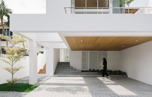 Assembled House Park + Associates Semi Detached Housecc Studio Periphery entrance