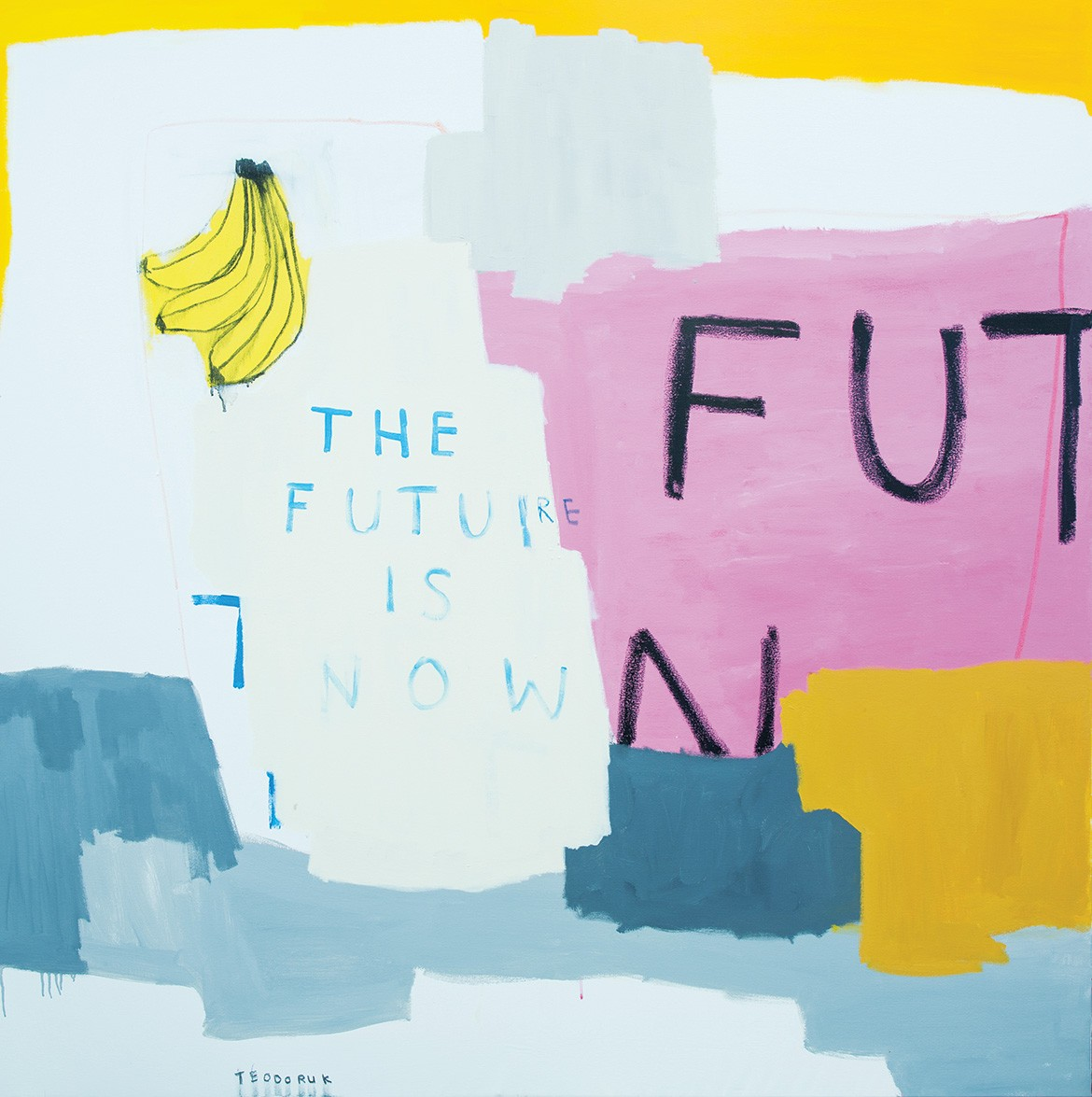 Australian Council For The Arts the future is now brad teodoruk acrylic charcoal and oil pastel on cavas
