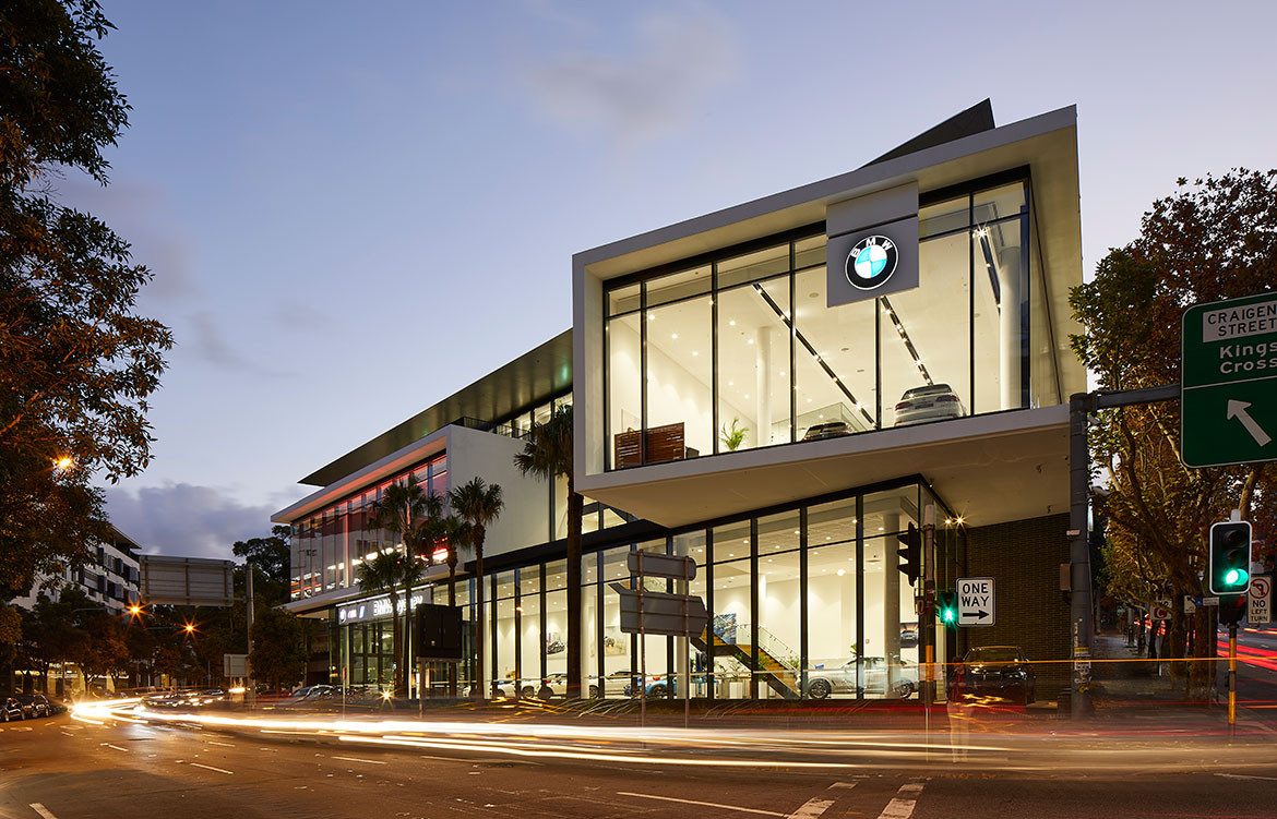 BMW MINI Car Showroom by SJB CC Marin Mischkulnig building