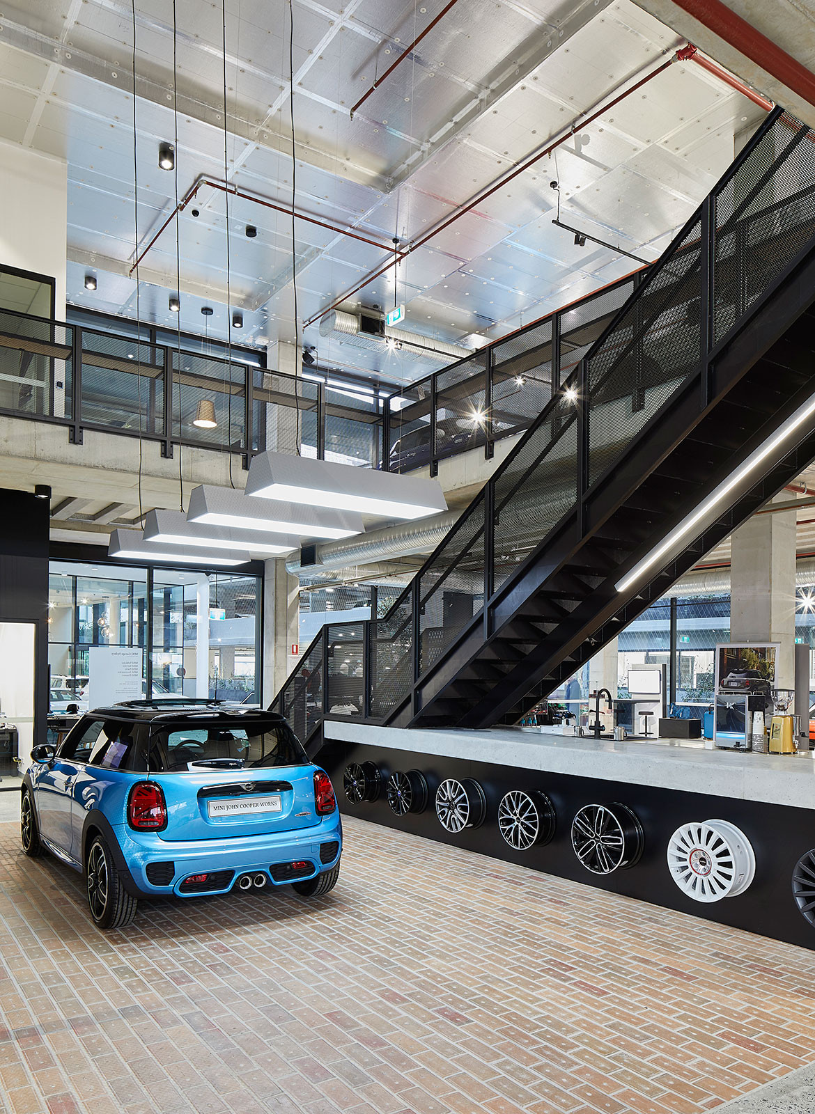 BMW MINI Car Showroom by SJB CC Marin Mischkulnig mini tyres