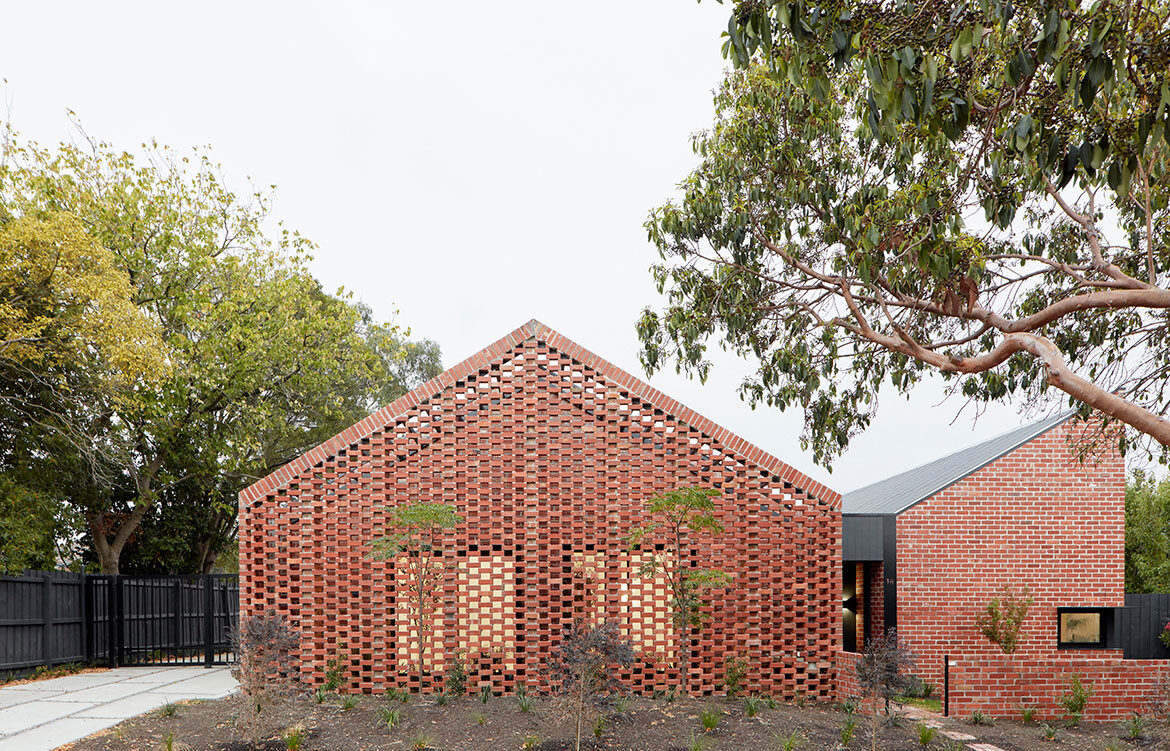 Bardolph Gardens by Breathe Architecture has a recycled brick façade with a contemporary aesthetic.