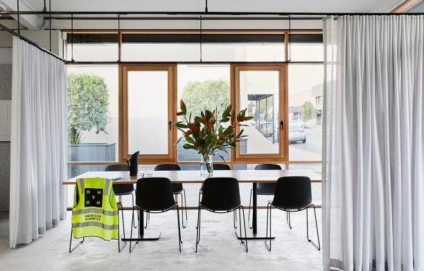 Sustainable design collaborations | Barkley Street Collective open-plan industrial office space by Cantilever Interiors and Hip V Hype