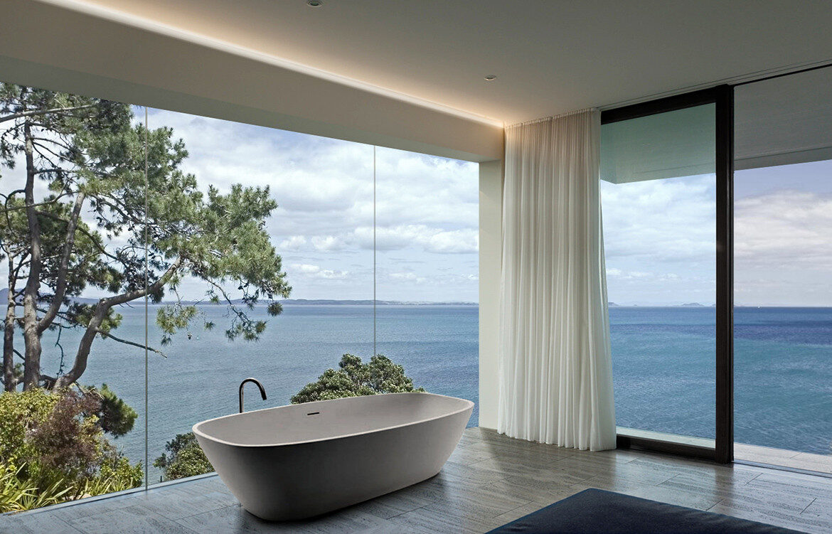 Bay View House by Wolf Architects | contemporary bathroom design | coastal home | bathroom inspiration