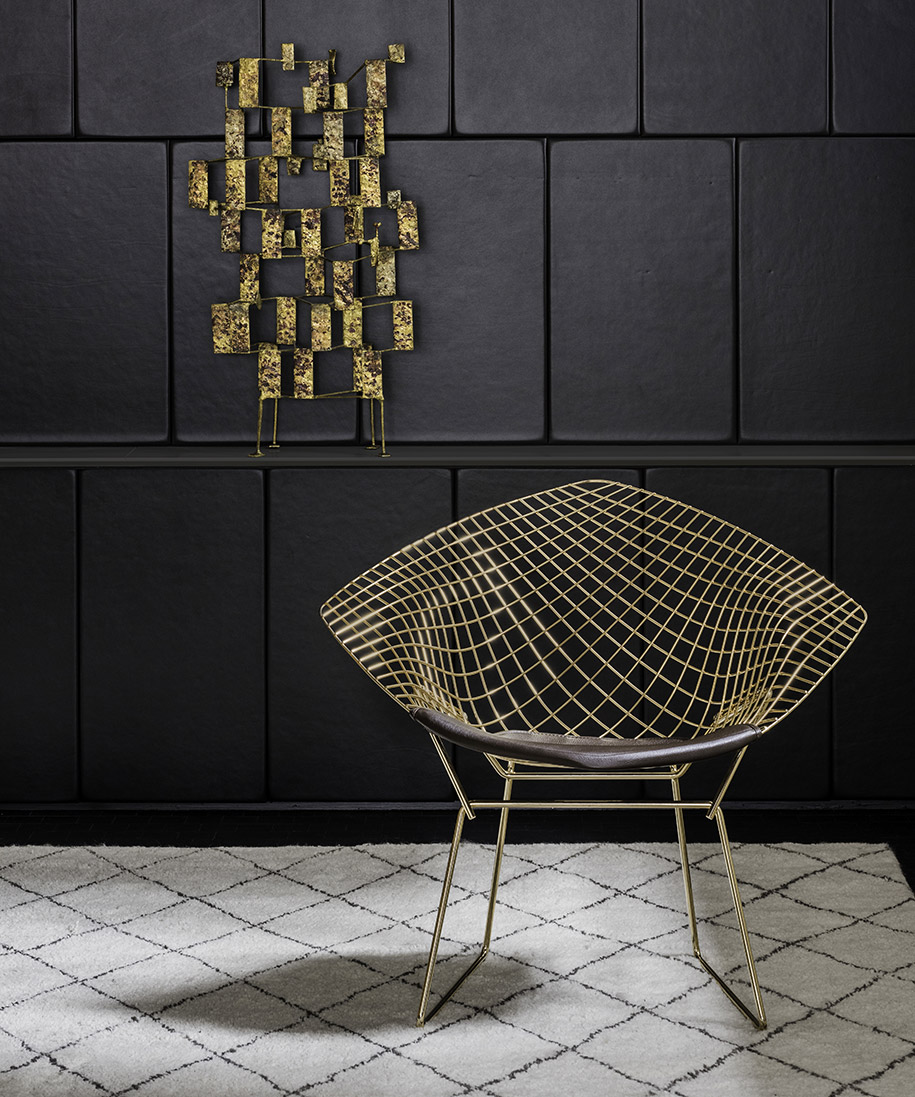 knoll introduces the bertoia diamond chair habitus living. Black Bedroom Furniture Sets. Home Design Ideas