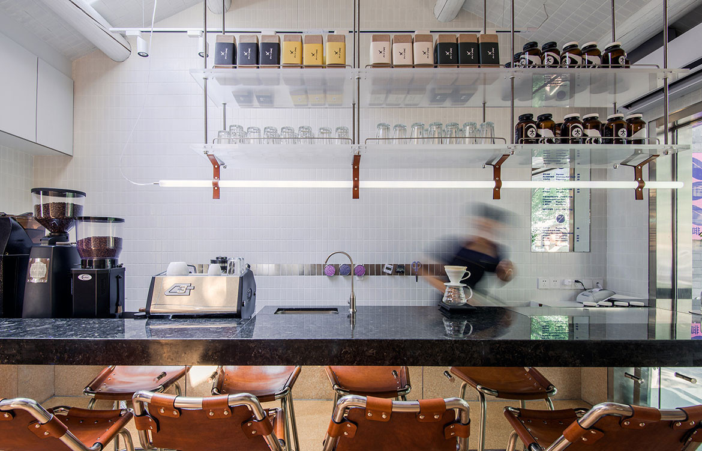 Big Small Coffee Office AIO bar elevation bench