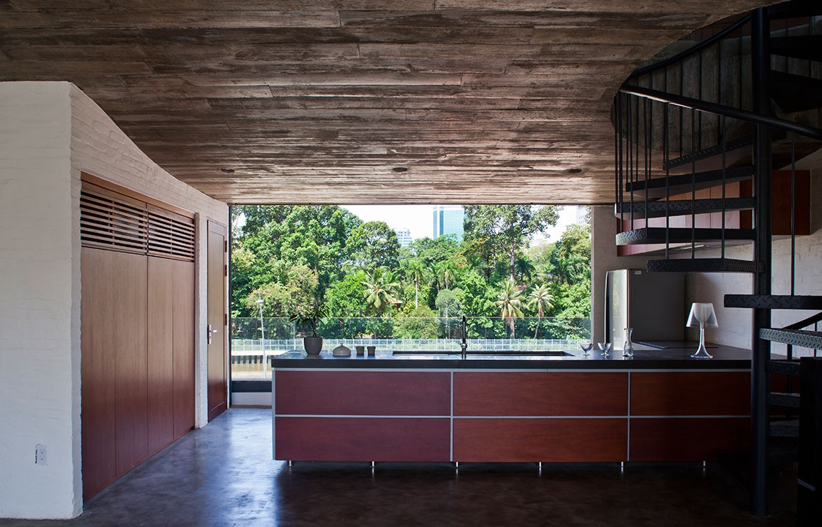 Binh Thanh House NISHIZAWAARCHITECTS kitchen