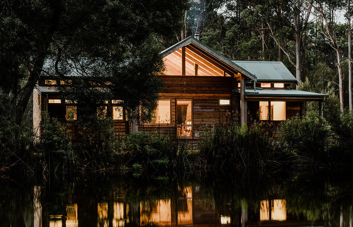 A modest cottage in secluded Tasmanian bushland sets the scene for Blackwood Rest, a remote refuge by Bijl Architecture.