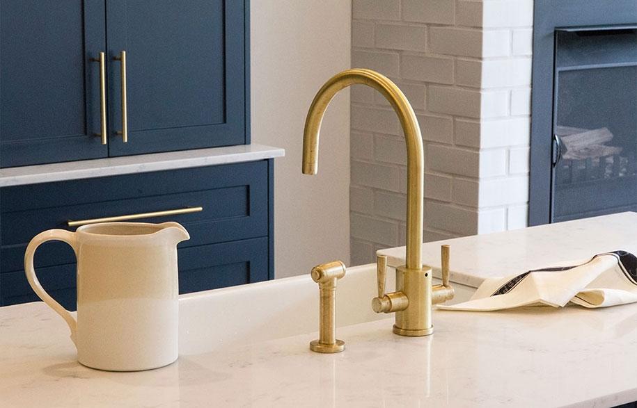 Brass-kitchen-taps