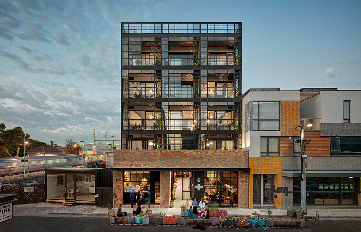 Nightingale 1 in Brunswick by Breathe Architecture – Photograph by Peter Clarke