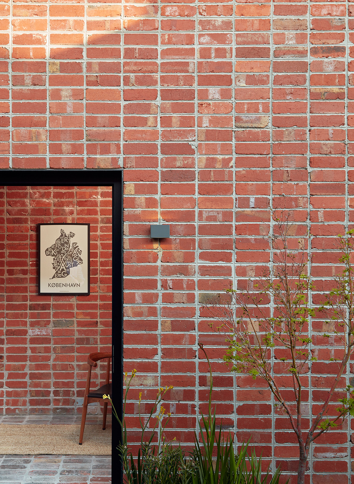 Brick and Gable Terrace House Breathe Architecture CC Tom Ross bedroom doorway