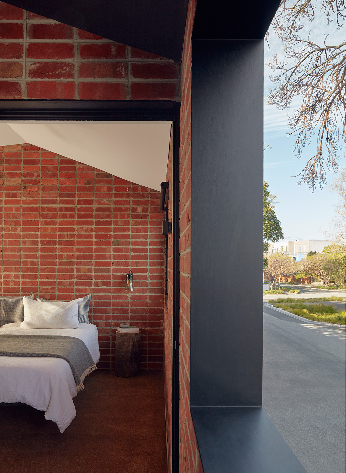 Brick and Gable Terrace House Breathe Architecture CC Tom Ross bedroom window