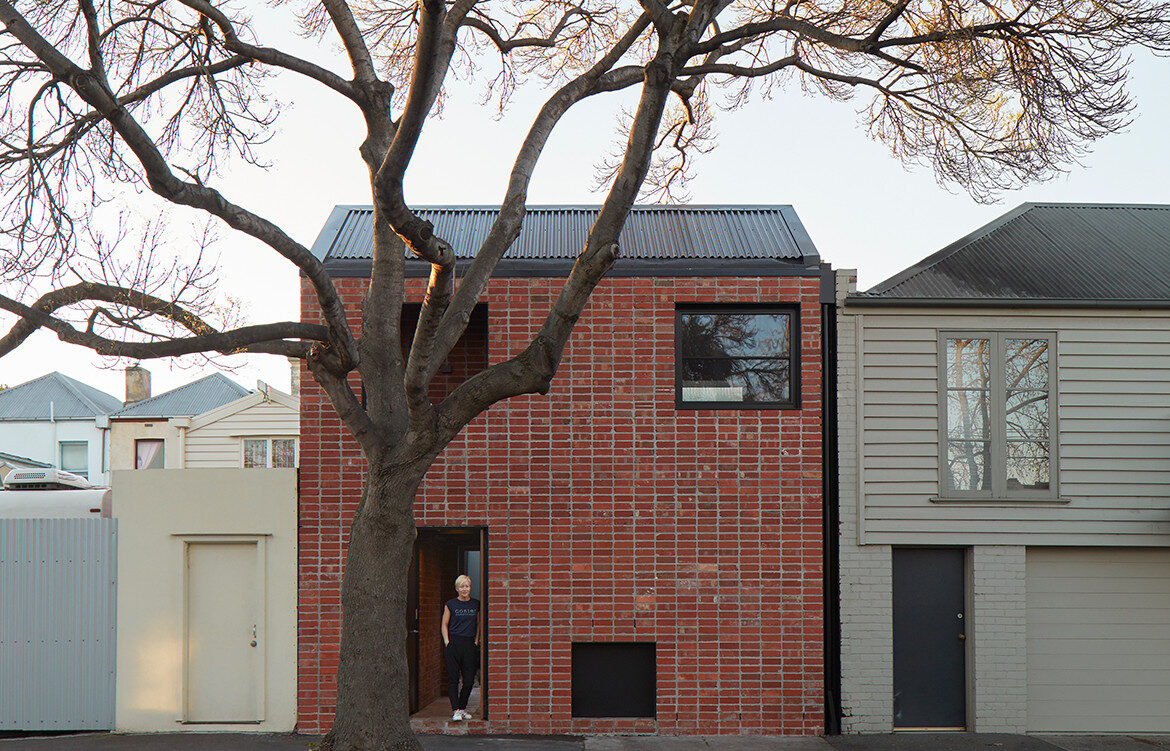 Brick and Gable Terrace House Breathe Architecture CC Tom Ross front exterior