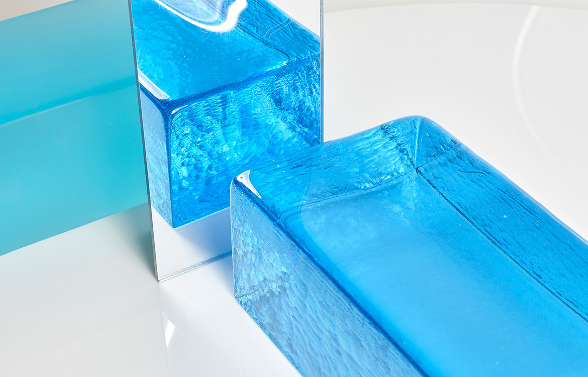 Brickworks Glass Bricks blue