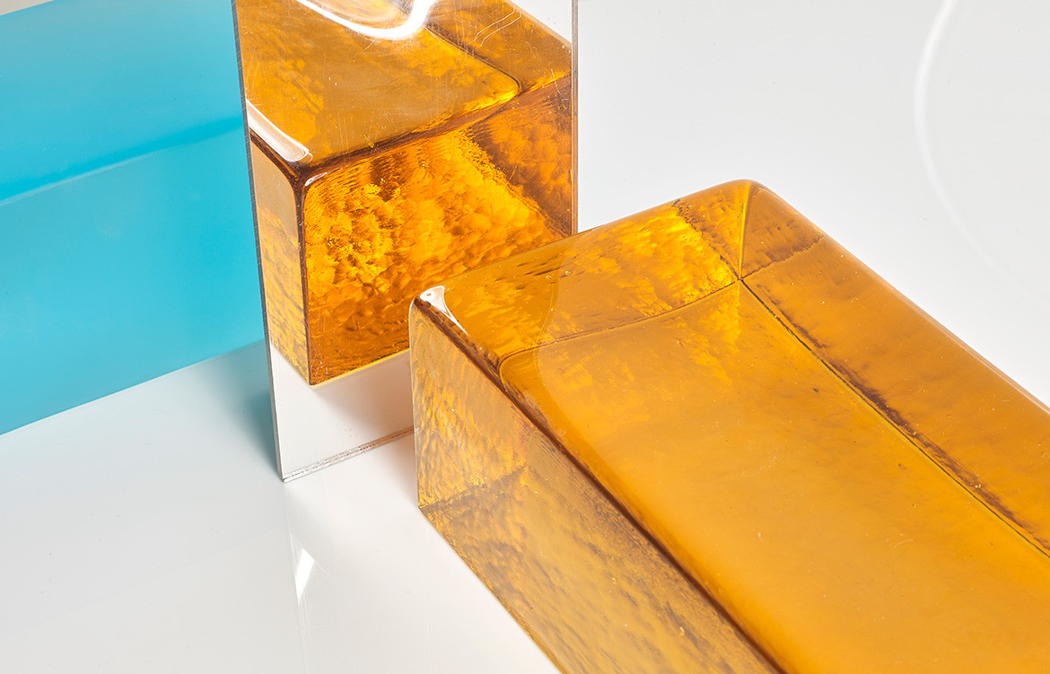 Brickworks Glass Bricks orange
