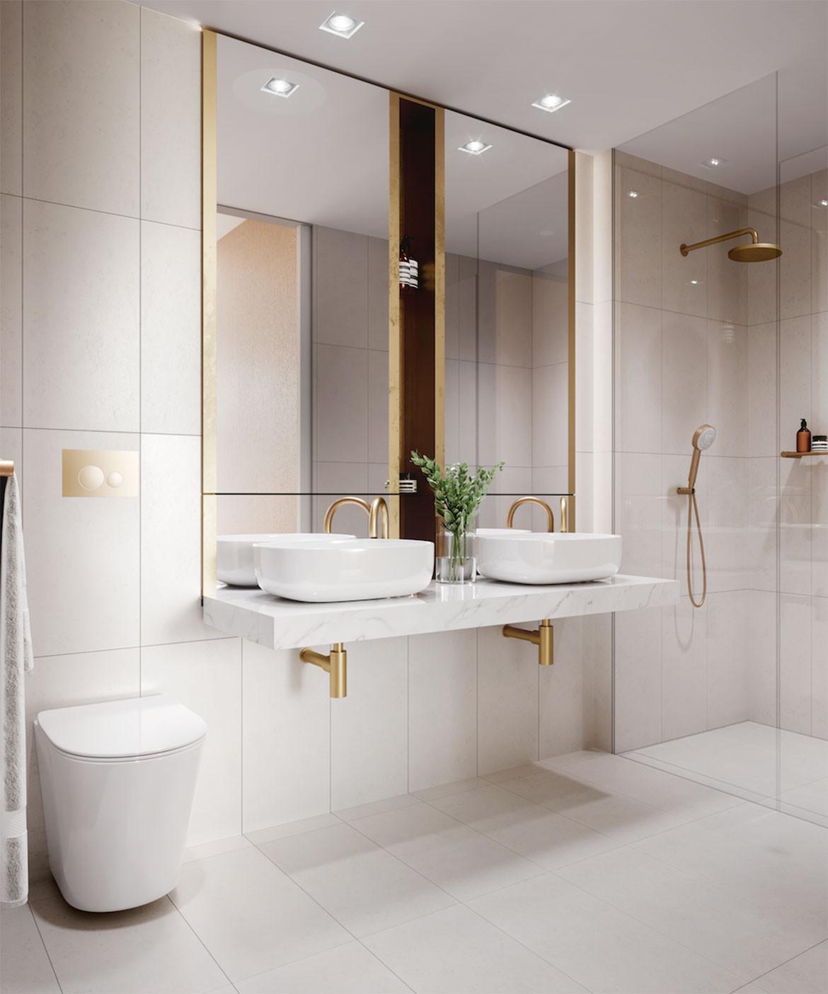 Calibre Koichi Takada and Kengo Kuma bathroom
