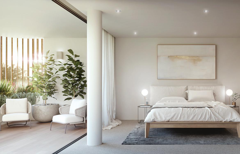 Calibre Koichi Takada and Kengo Kuma bedroom