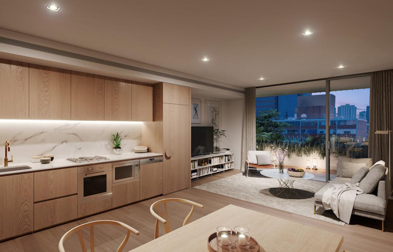 Calibre Koichi Takada and Kengo Kuma open living and kitchen