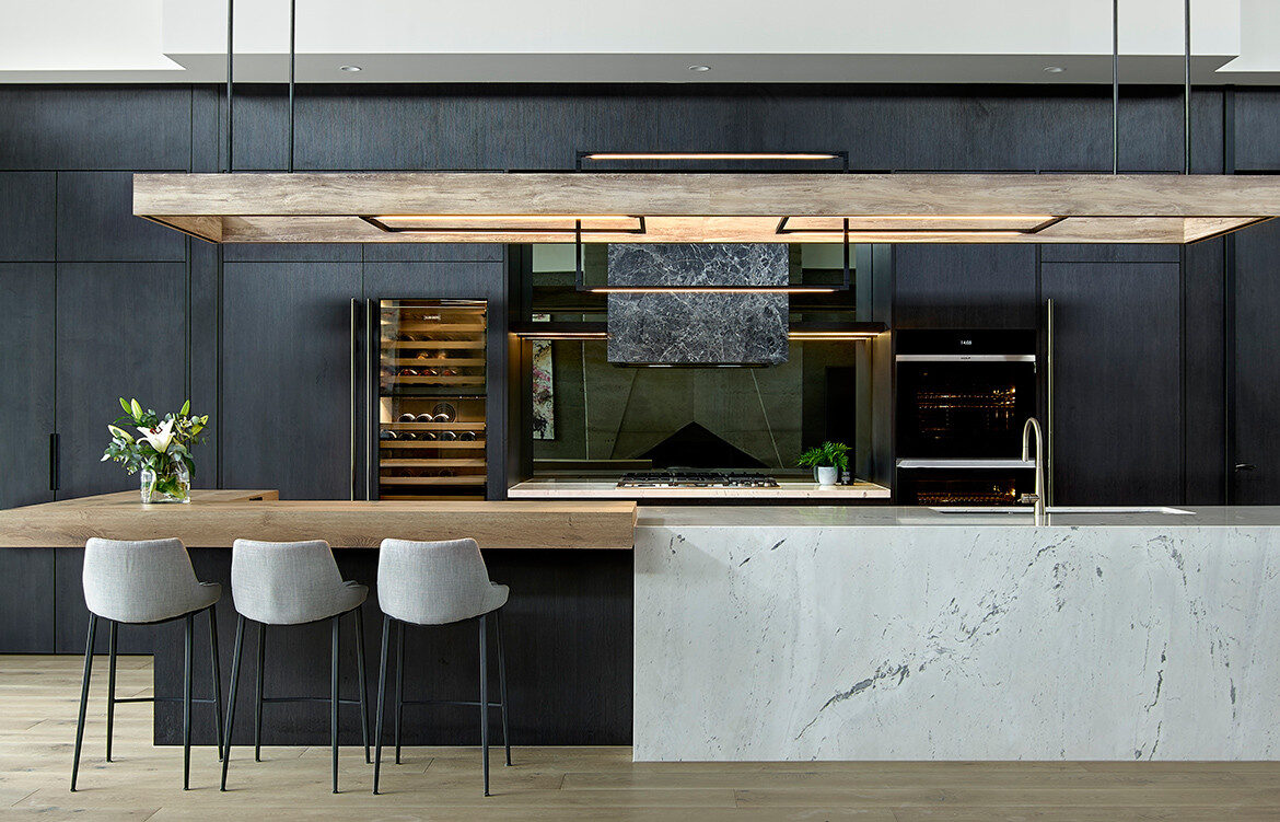 A Moody, Modern Kitchen Design By Maker + May  Habitus Living